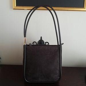 Vintage Suede Gucci shoulder bag
